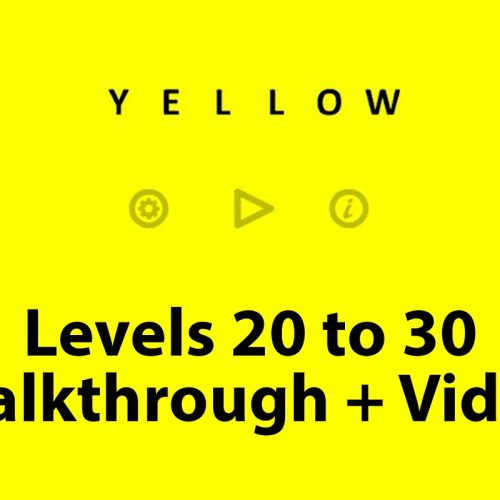 Yellow puzzle level 20 to 30