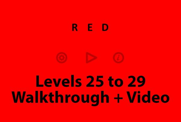 red puzzle level 25 to 29