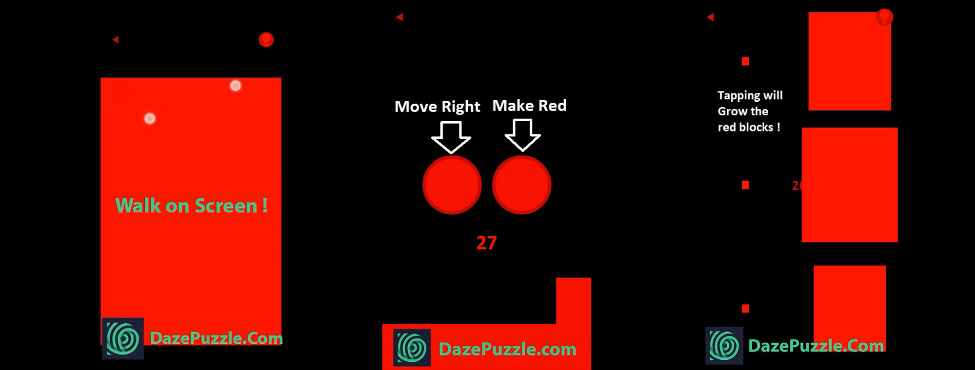 Red Puzzle Game Level 25 to 29 Solution & Detailed Walkthrough