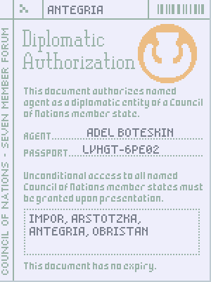 papers please diplomatic