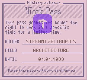 work pass papers please