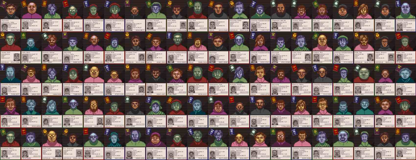 Papers Please Characters