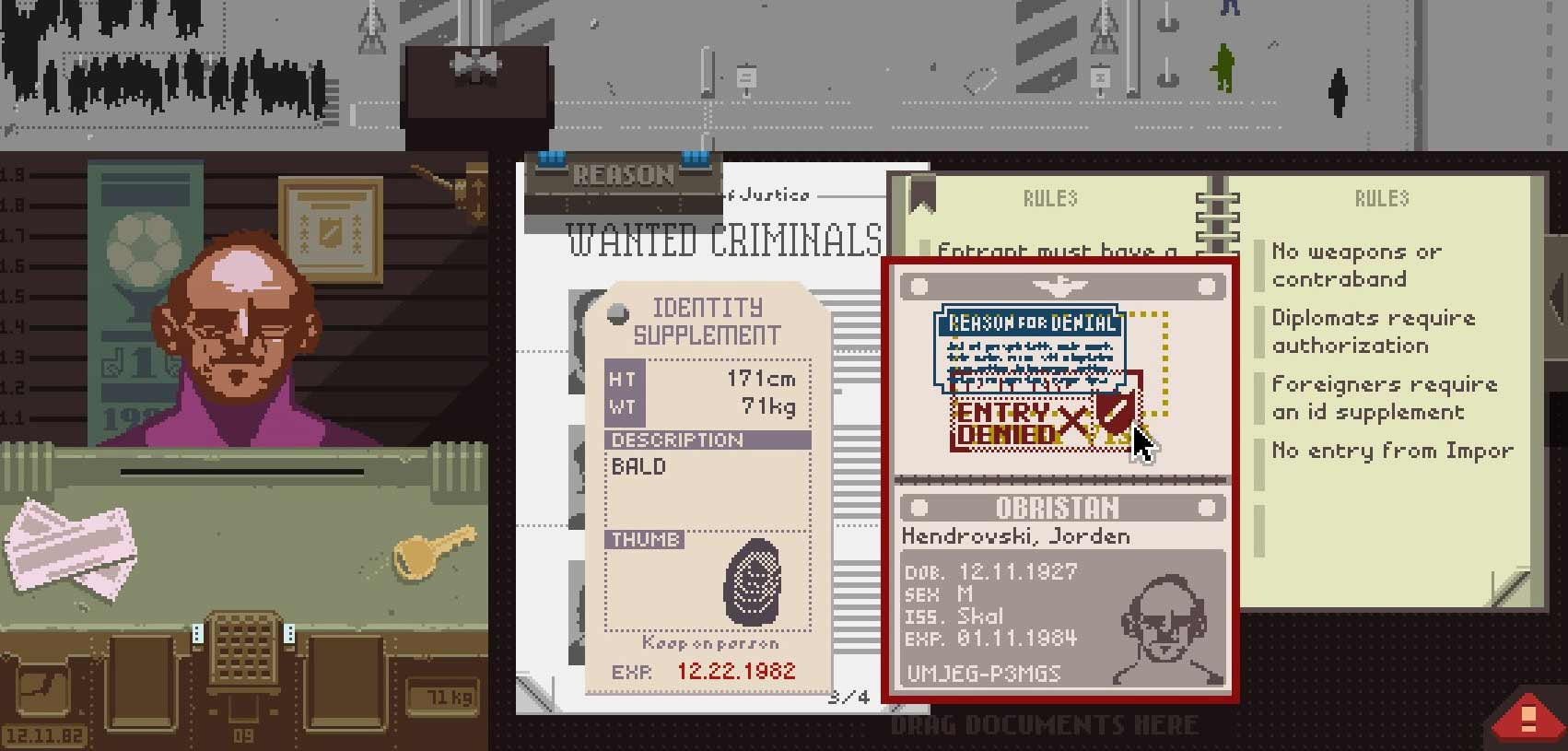 Papers Please Timeline