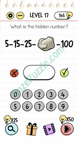 what is the hidden number brain test