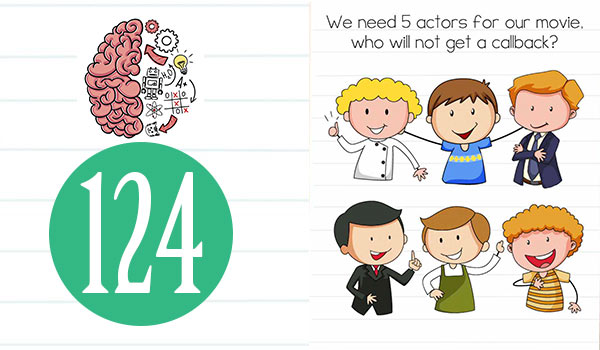 brain test level 124 we need 5 actors for our movie answer
