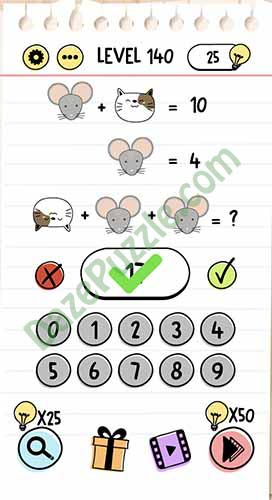 Brain Test Level 140 answer