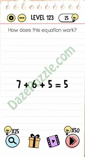 how does this equation work brain test