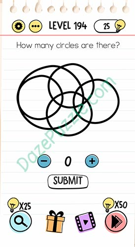 How many circles are there brain test