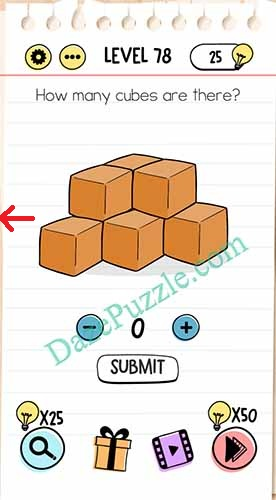 how many cubes are there brain test
