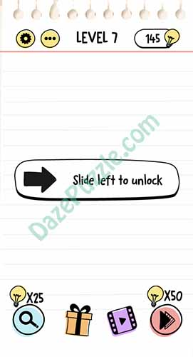 slide left to unlock brain test