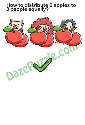 Brain Out Level 212 Answer Updated How To Distribute 3 Apples Daze Puzzle