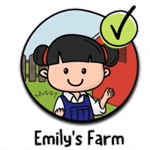 brain test 2 emily's farm logo