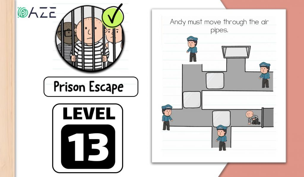 brain test 2 prison escape level 13