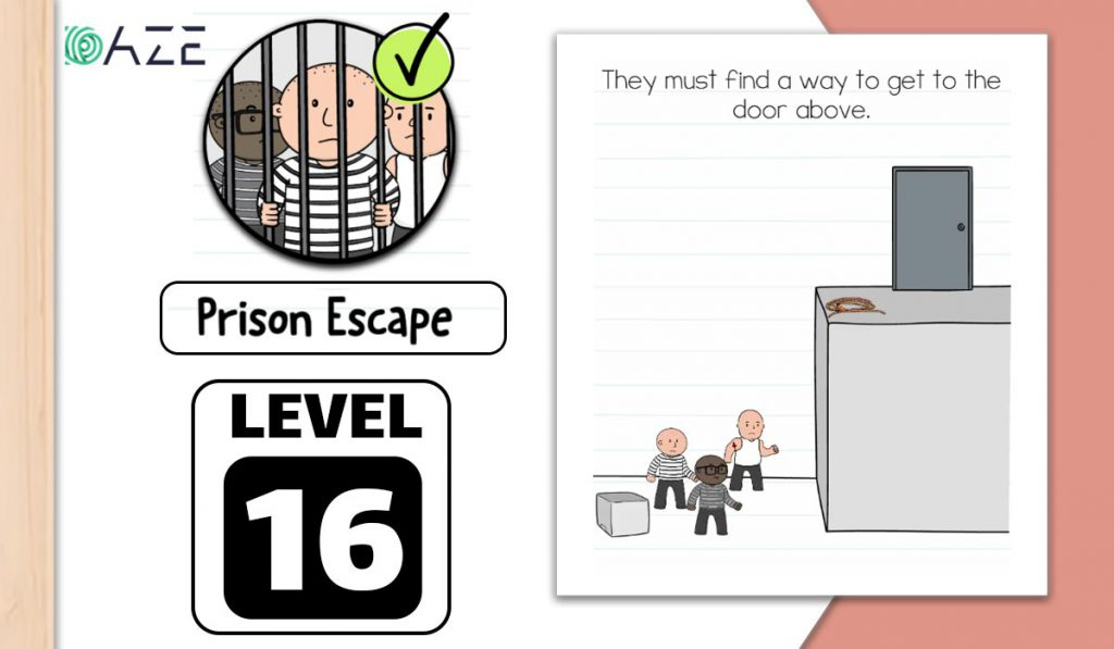 brain test 2 prison escape level 16