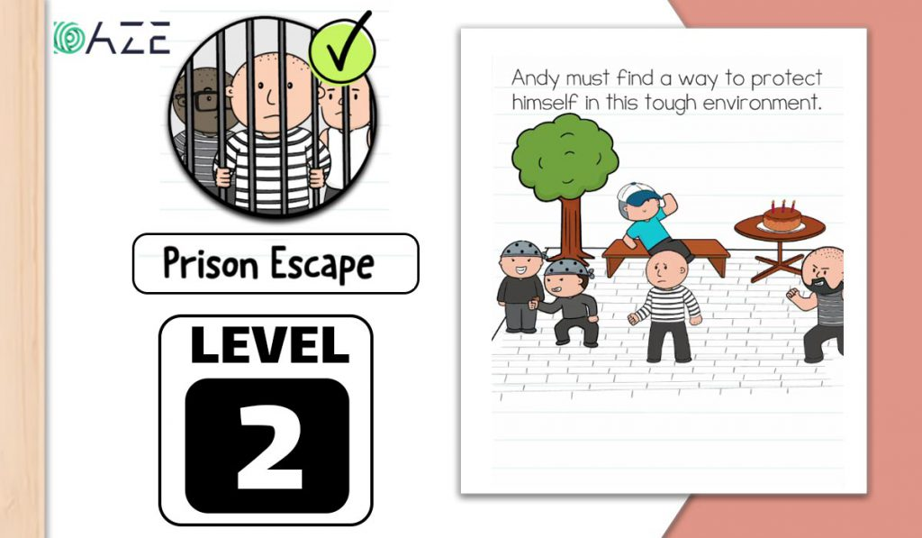 brain test 2 prison escape level 2