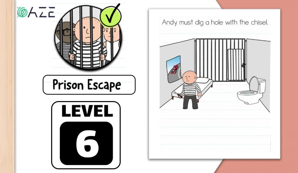 brain test 2 prison escape level 6