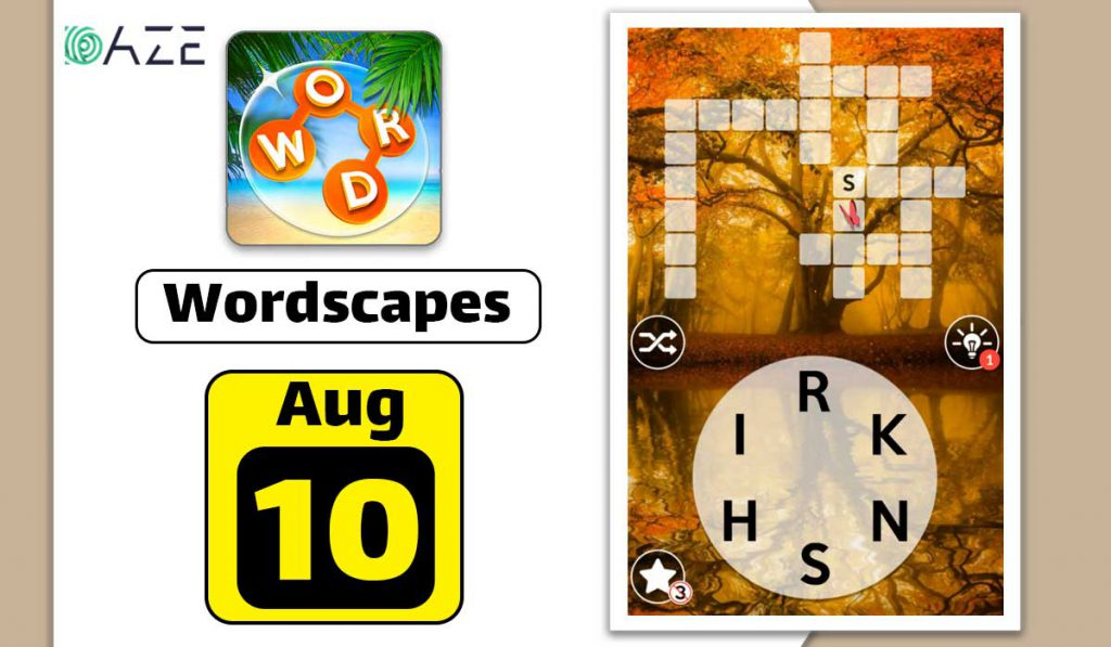 wordscapes august 10 2020 daily puzzle