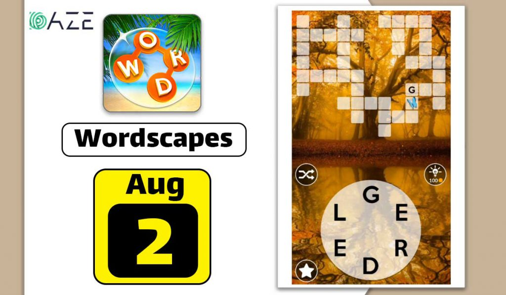 wordscapes august 2 2020 daily puzzle