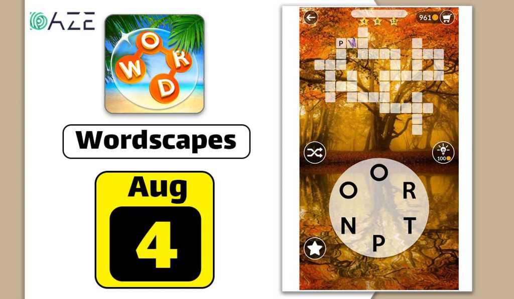 wordscapes august 4 2020 daily puzzle
