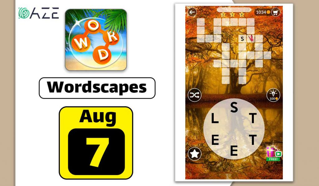 wordscapes august 7 2020 daily puzzle