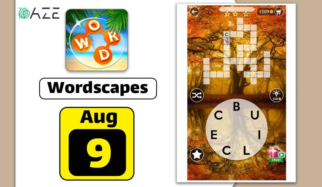 wordscapes august 9 2020 daily puzzle