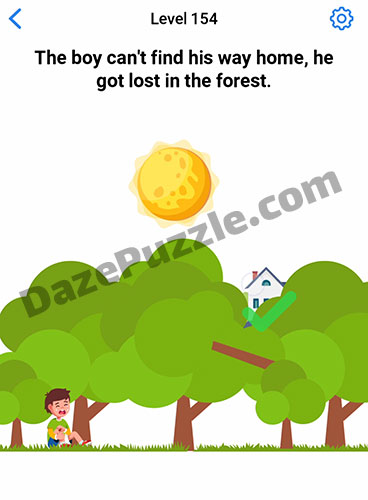 Easy Game Level 154 Updated The Boy Can T Find Answer Daze Puzzle