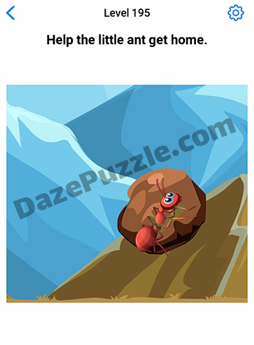 Easy Game Level 195 Updated Help The Little Ant Answer Daze Puzzle