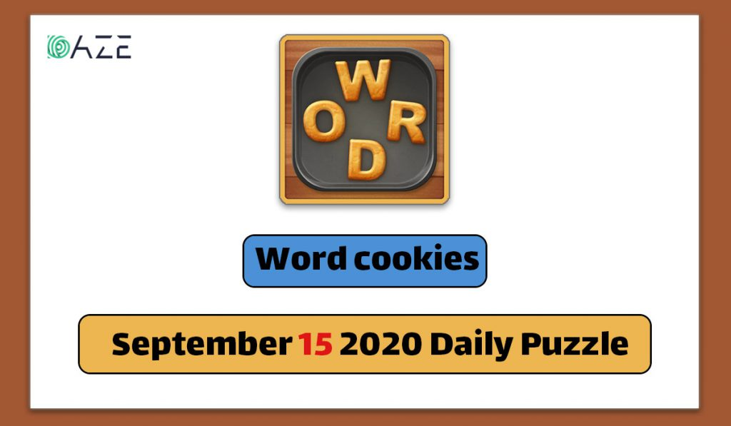 word cookies september 15 2020 daily puzzle