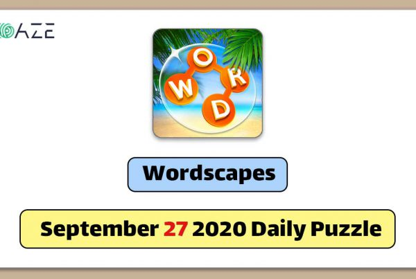 wordscapes september 27 2020 daily puzzle