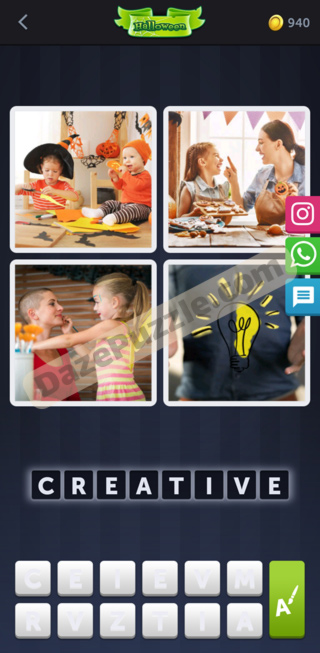 4 pics 1 word October 3 2020 bonus daily puzzle answer