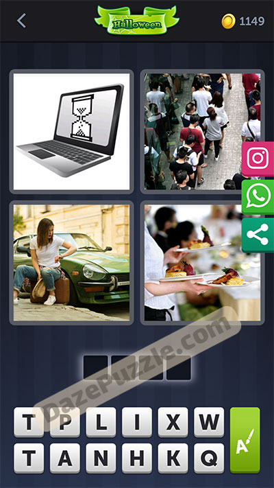4 pics 1 word October 22 2020 bonus daily puzzle answer