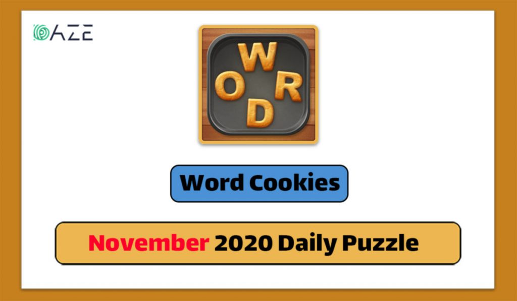 word cookies november 2020 daily puzzle