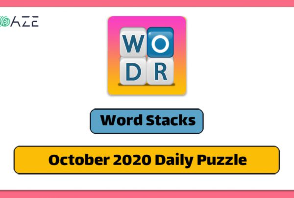 Word stacks October 2020 daily puzzle