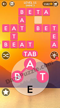 wordscapes level 11 answer
