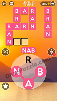 wordscapes level 12 answer