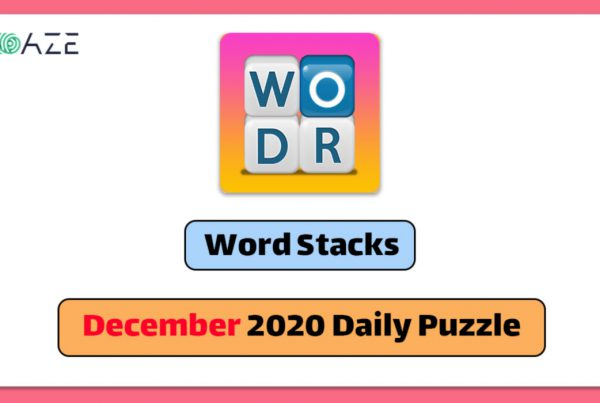 word stacks december 2020 daily puzzle