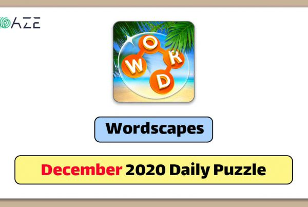 wordscapes december 2020 daily puzzle