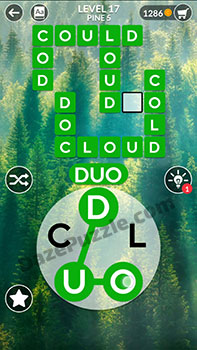 wordscapes level 17 answer