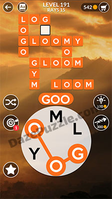 wordscapes level 191 answer