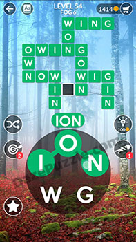 wordscapes level 54 answer