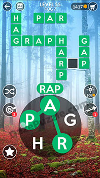 wordscapes level 55 answer