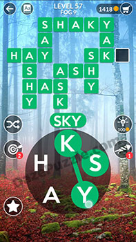 wordscapes level 57 answer