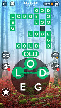 wordscapes level 58 answer