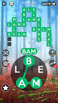 wordscapes level 63 answer