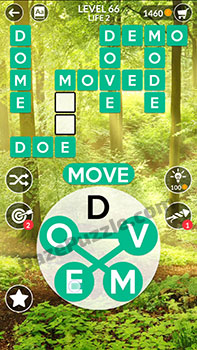 wordscapes level 66 answer
