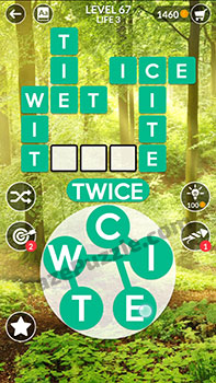 wordscapes level 67 answer