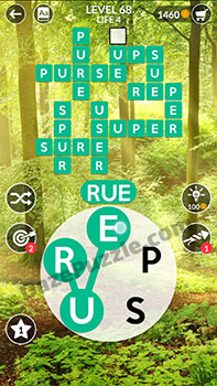 wordscapes level 68 answer