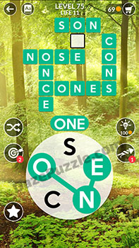 wordscapes level 75 answer