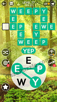 wordscapes level 77 answer