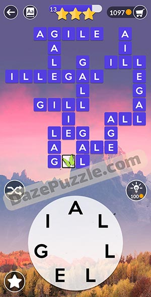 wordscapes november 17 2020 daily puzzle answer